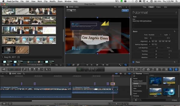 Program do montażu Apple Final Cut