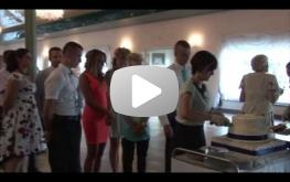 Wjazd torta weselnego na salę